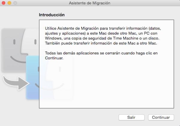 tutorial asistente migración mac