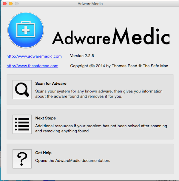 eliminar malware con AdwareMedic - MacServiceBcn