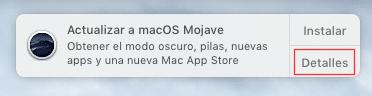 pulsar detalles de la notificación de MacOS