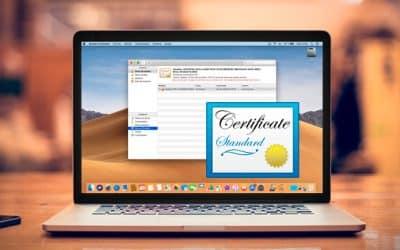 Cómo instalar un certificado digital en un Mac