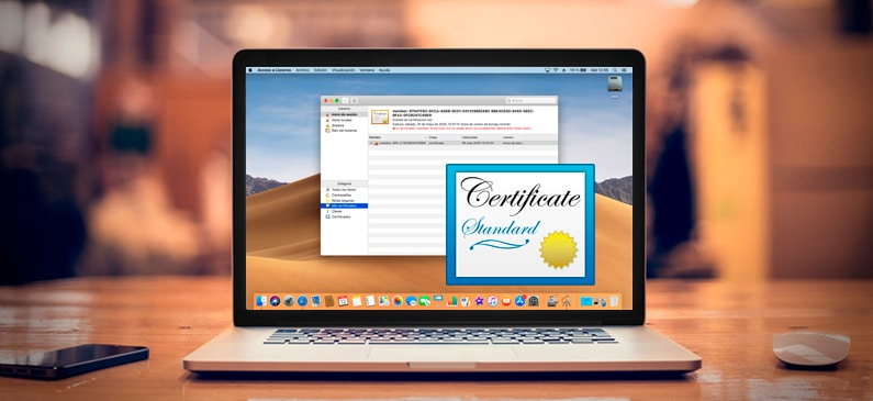instalar certificado digital en un Mac